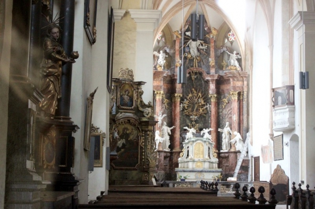Peak into a church in Bruck an der Mur, Styria/Austria