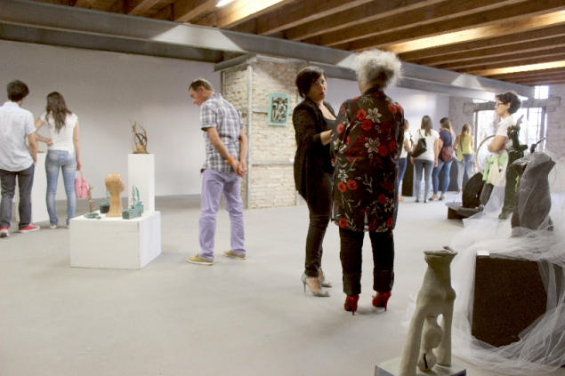 Visitors at the 4th Ancona Art Salon, 01.07.14