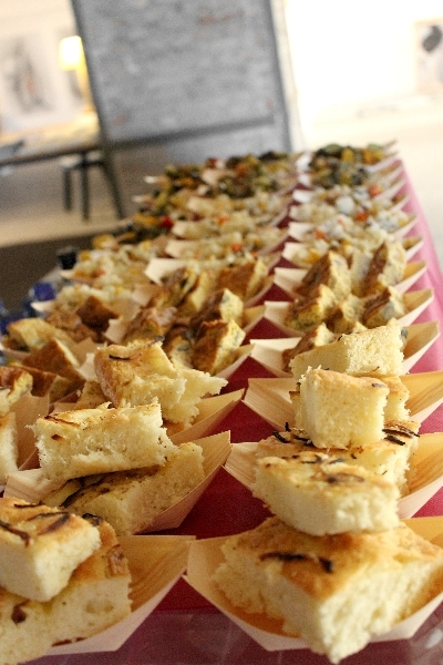 Food at 4th Ancona Art Salon on 1st July 2014, Ancona, Italy