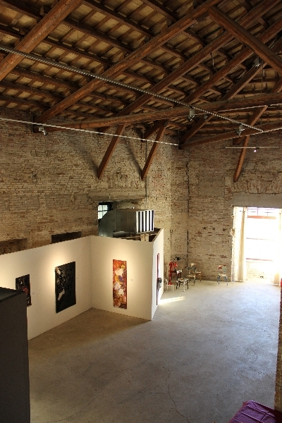 Italian contemporary art at 4th Ancona Art Salon on 1st July 2014, Ancona, Italy