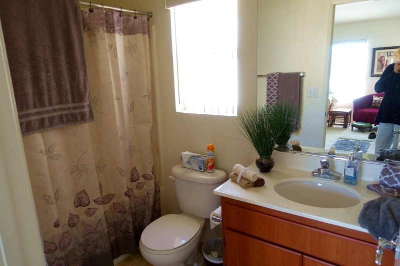 Bathroom at the air b&b in La Quinta, Palm Springs, California/USA