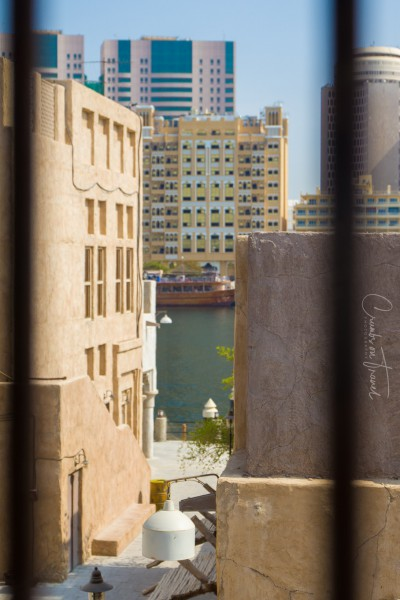 View towards Old Town from the Al Seef Heritage Hotel in Dubai