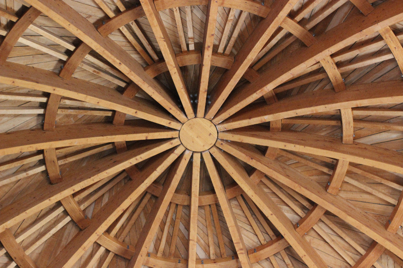 Wooden ceiling, Citadel, Amman, Jordan, Middle East