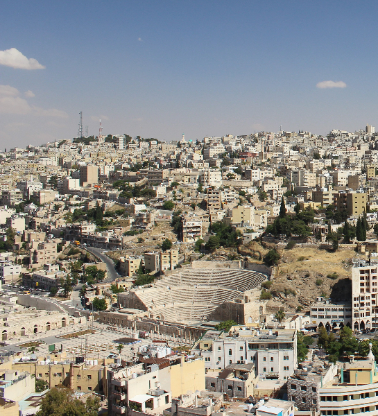 View of the Roman theater, Amman, Jordan, Middle East