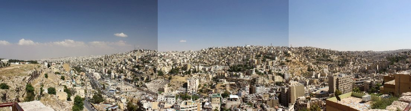 Panorama of Amman, capital of Jordan