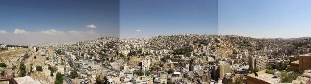 Panorama of Amman, capital of Jordan
