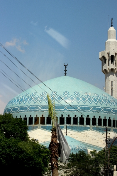 Blue mosque in Amman, Jordan
