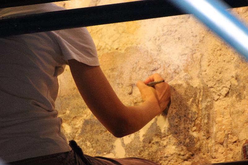 Restoration,Qasr Amra, Jordan