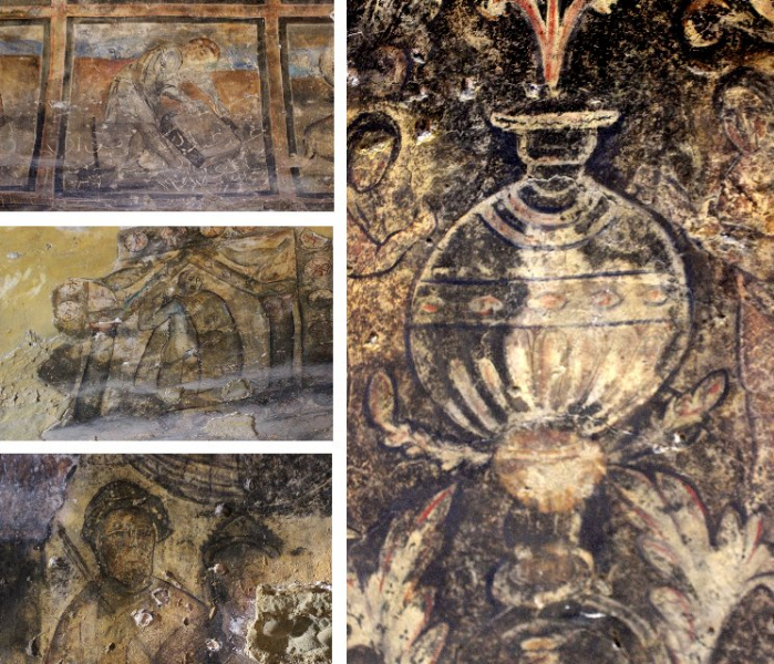 Paintings, Qasr Amra, Jordan