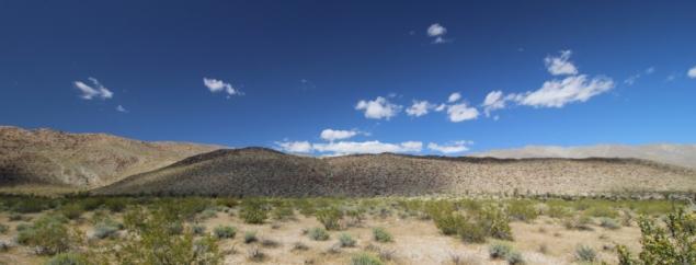 View of the Anza Borrego Desert State Park, California/USA