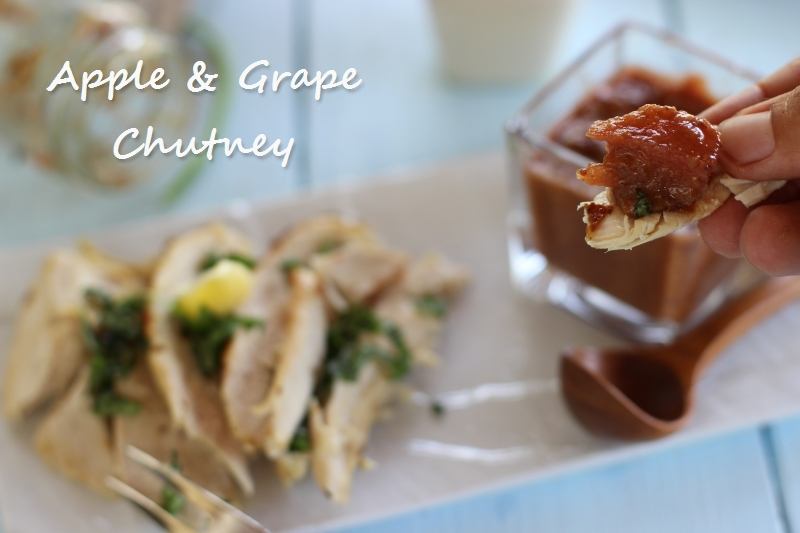 Apple Grape Chutney
