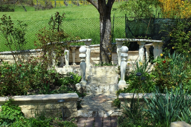 In the garden of Casa Appeninno, Villa Minozzo, Italy
