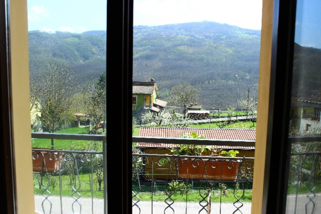 view of a window at Casa Appeninno, Villa Minozzo, Italy