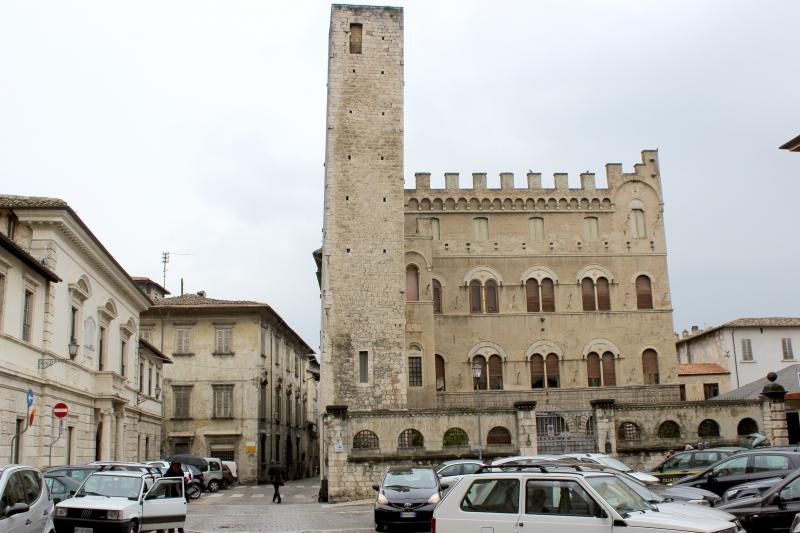 Piazza San Agostino at Ascoli Piceno, Le Marche/Italy