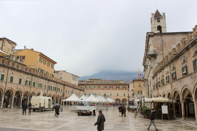 Piazza del Popolo at Ascoli Piceno, Le Marche/Italy