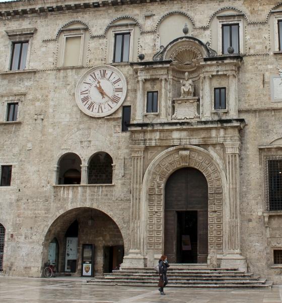 Palazzo dei Capitani del Popolo at Ascoli Piceno, Le Marche/Italy