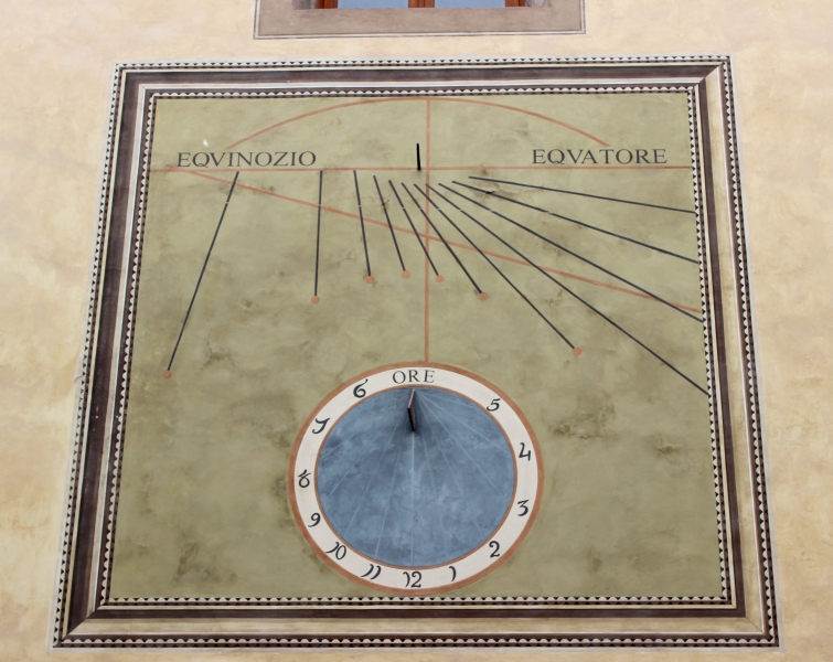 Sun dial at Ascvoli Piceno, Le Marche/Italy