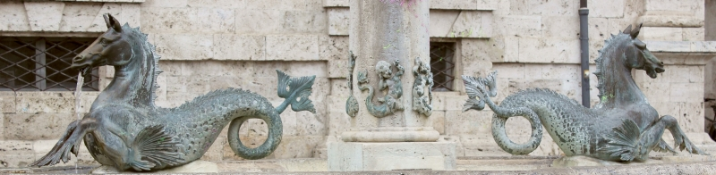 Well detail at Ascoli Piceno, Le Marche/Italy