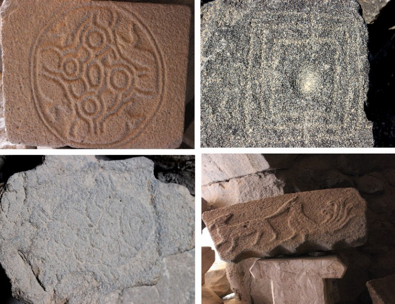 Carvings, Qasr Azraq, Jordan