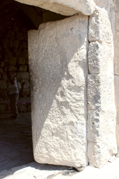 Stone door, Qasr Azraq, Jordan