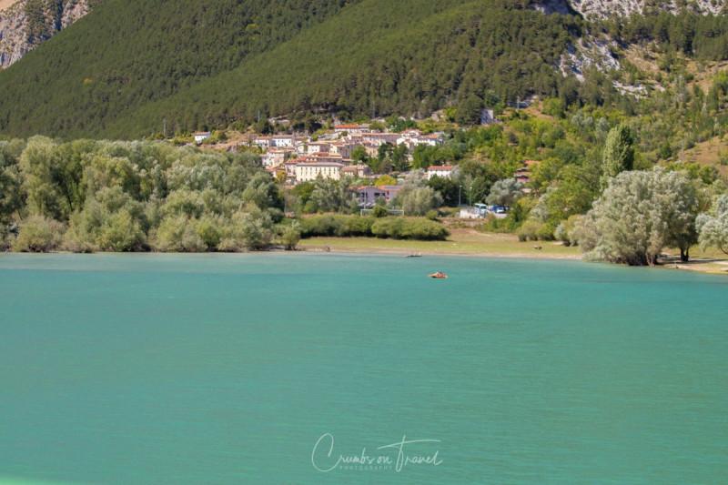 Barrea, Lake Barrea in Abruzzo/Italy