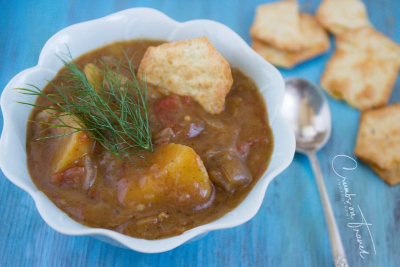 Beef stew with coconut milk