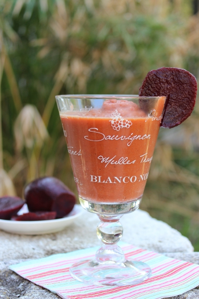 Beetroot carrot smoothie