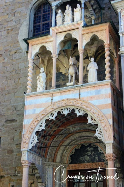 Entrance of the Cathedral of Bergamo, Lombardy/Italy