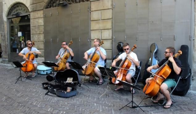 Musicians in Bergamo, Lombardy/Italy