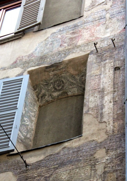 Wall paintings at a house in Bergamo, Lombardy/Italy