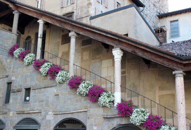 Stairs at the belfry, Bergamo, Lombardy/Italy