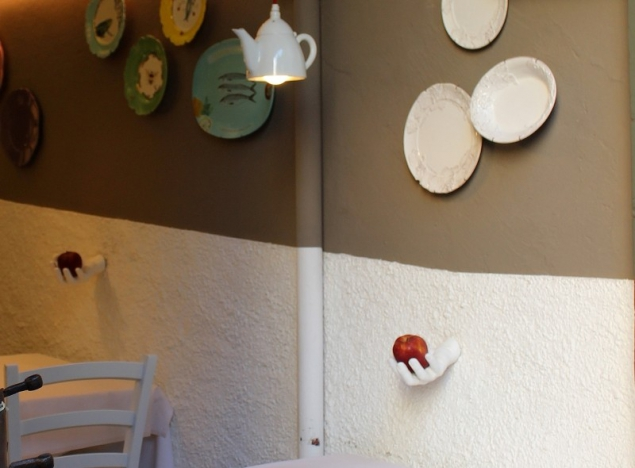 A restaurant detail in Bergamo, Lombardy/Italy