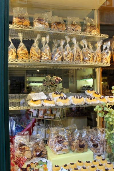 Sweet treats seen in Bergamo, Lombardy/Italy