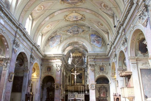 Inside the church Sant'Agata nel Carmine, Bergamo, Lombardy/Italy
