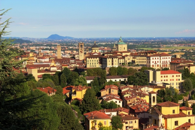 View of Bergamo, Lombardy/Italy