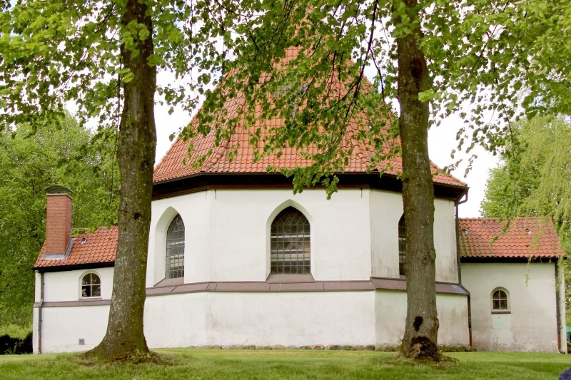 Church of Bergenhusen, Schleswig-Holstein, Germany