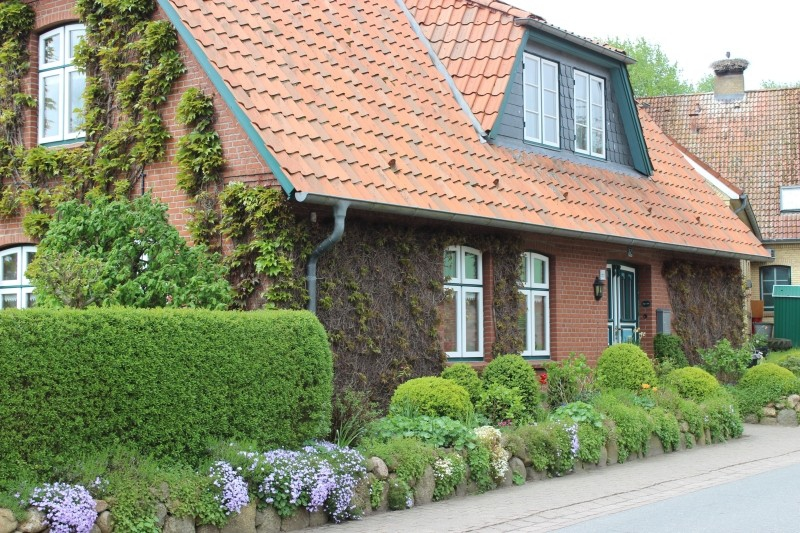 House in Bergenhusen, Schleswig-Holstein, Germany