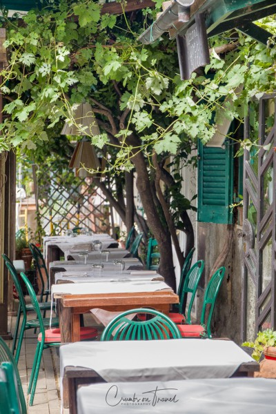 Impressions of Bolgheri in Tuscany/Italy - restaurant tables