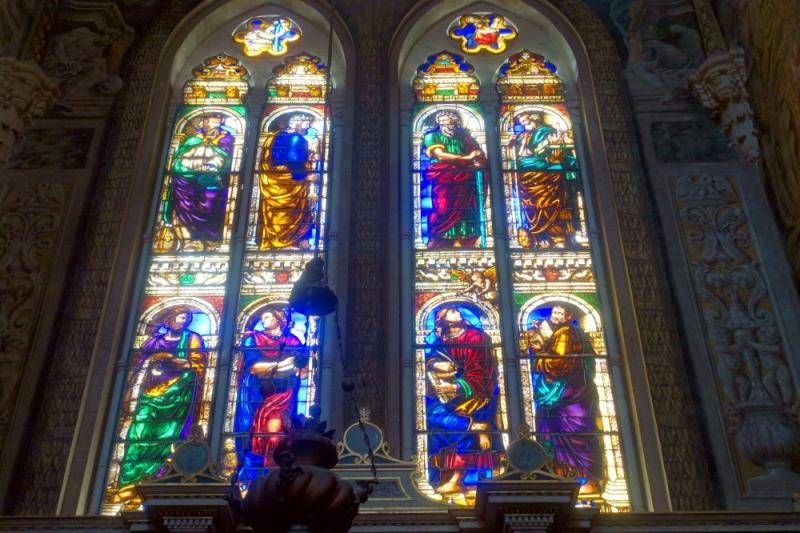 Windows of the Basilica of San Petronio of Bologna, Emilia-Romagna/Italy