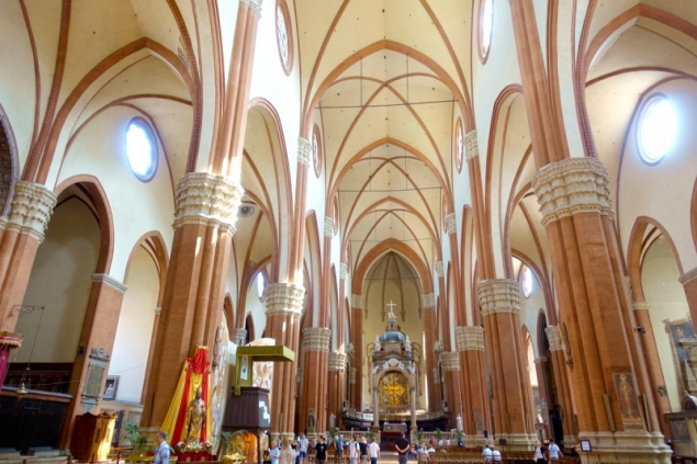 View of the Basilica of San Petronio of Bologna, Emilia-Romagna/Italy