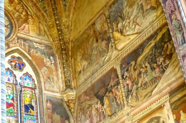 Details of the Basilica of San Petronio of Bologna, Emilia-Romagna/Italy