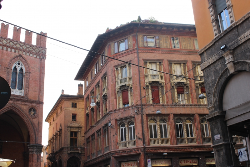 Street view of Bologna center, Italy