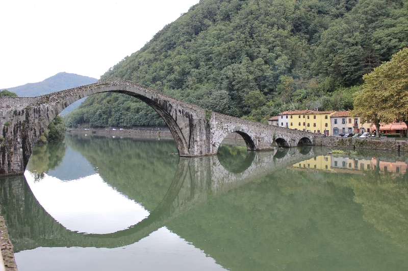 Devil's bridge at Borgo a Mozzano, Tuscany