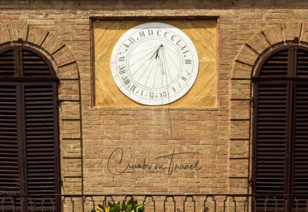 Sundial in Buonconvento, Tuscany/Italy