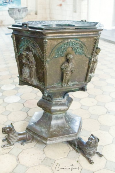 Bronze baptismal from 1391, St. Nicholas Church, Fehmarn