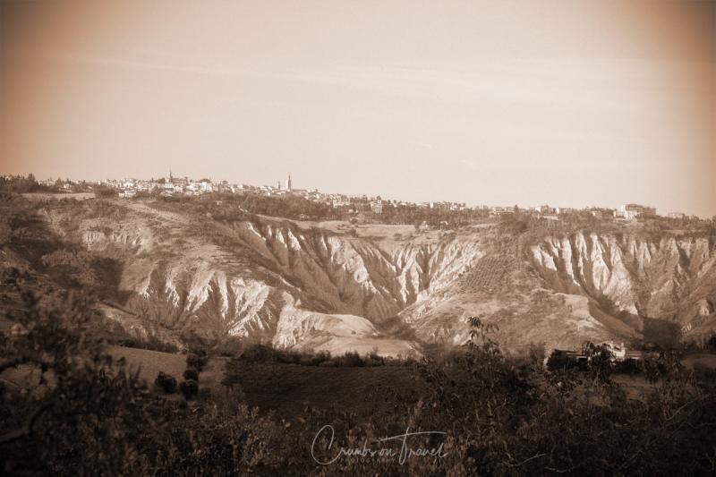 Calanchi di Atri with view on Atri