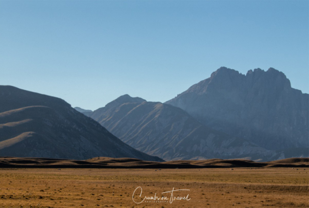 The Campo Imperatore High Plateau in the Abruzzo Mountains
