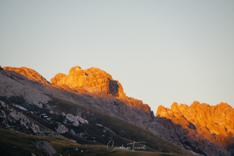 Alpenglow, The Campo Imperatore High Plateau in the Abruzzo Mountains