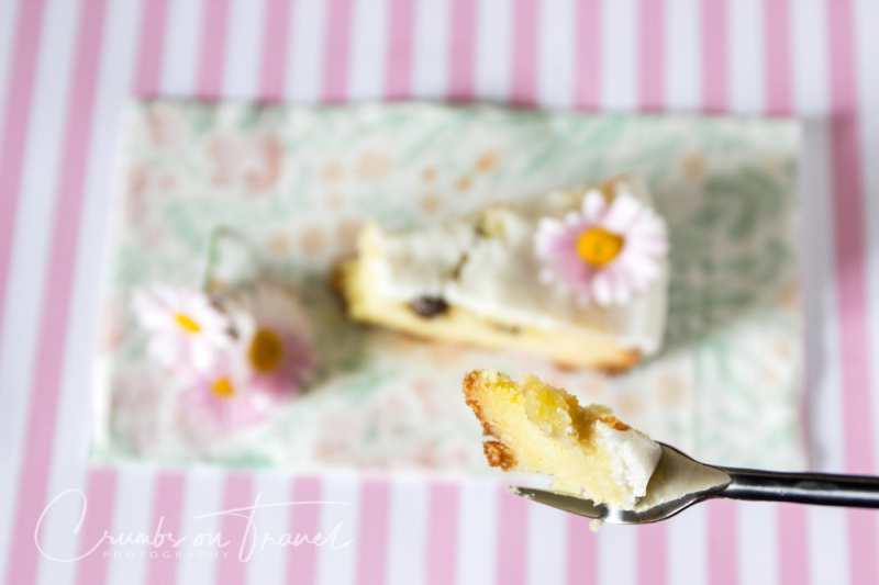 Caprese al Limone – Italian white chocolate almond cake