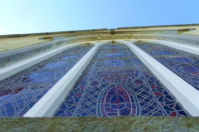 Church window in Carlingford, County Louth/Ireland